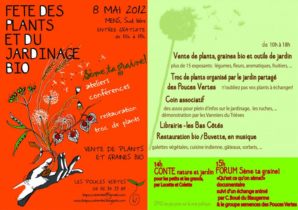 Fêtes des plants bio le 8 mai dans Calendrier et actualités locales fêtedesplants8mai-1024x723